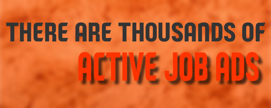 Currently there are thousands and thousands of vacant jobs listed on different job search web sites