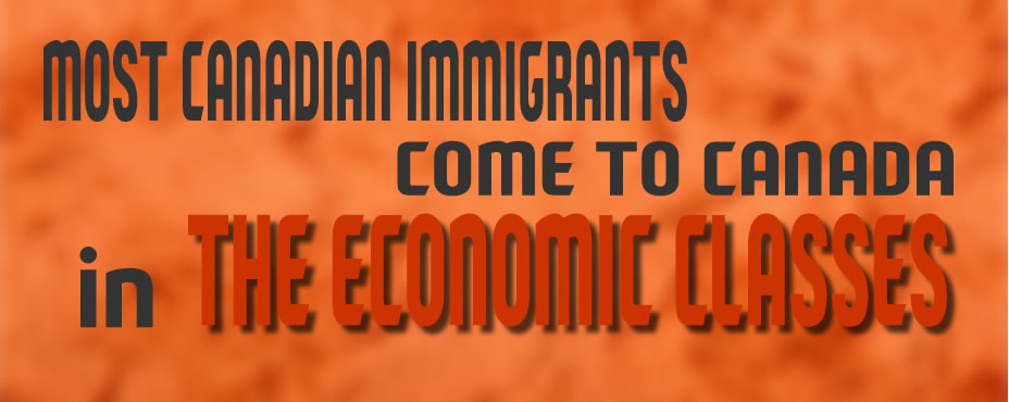 60% or more of all immigrans come to Canada in one of the economic classess.